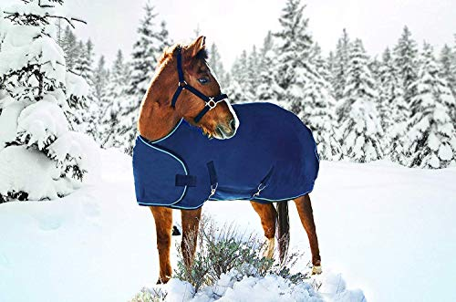 - Kensington Protective Products Weanling Adjustable All Around 1200 Denier 180g Medium Weight Waterproof and Breathable Turnout Blanket (Navy)