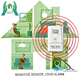 Water Alarm and Sensor for Water Leakage Detection, Sensitive Flood Alarm, Battery Included, LA Homieta WA08