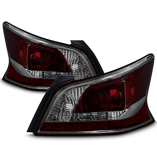 AVENN 2013-2015 Altima 4Dr Sedan Smoke Lens Tail Lights Brake Lamps Pair Left+Right L+R 2014 13 14 15