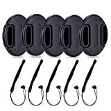 39mm Center Snap-on Lens Cap JJC Camera Front Lens Cover for Canon Nikon Fuji Fujifilm Strong Flexible Springs Replaces Original Cap Perfectly Fit Unique Design Camera Lens with Lens Cap Keeper-5 Pack