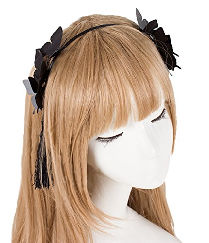 GLK Black Butterflies headband Maid Cosplay