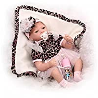 NPK Collection Reborn Baby Doll realistic baby dollsVinyl Silicone Babies 22inch 55cm Doll Newborn real baby doll Life Like Reborn Pacifier Leopard doll birthday gift