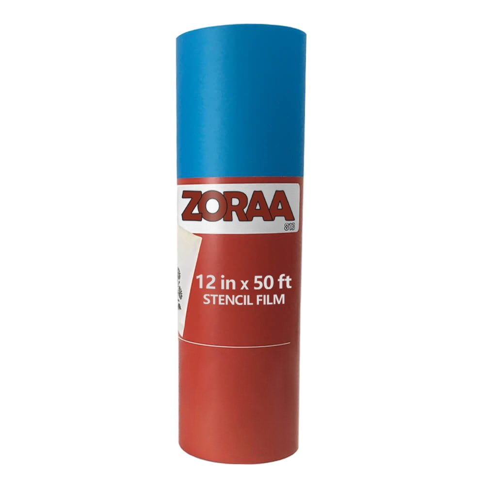 ZORAA Stencil Film Kit: 50ft Stencil Film Roll 12.125'' for DIY Crafting/Scrapbooking | Easy to Use Cricut, Silhouette & Cameo Vinyl Stencil Film| Crafting Stencil Material for Kids & Adults by ZORAAS