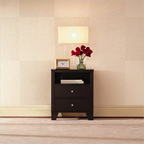 Lifestyle Solutions 500 Series 2 Drawer Nightstand in Cap...