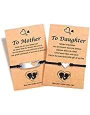 Back to School Gifts, First Day of School Gifts, Mother Daughter Mommy and Me Heart Wish Bracelets, Separation Anxiety Present for Girls Daughter