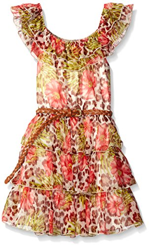 Mack Kate Sundress (Kate Mack Big Girls Kitty Kahlo Chiffon Dress, Multi, 7)