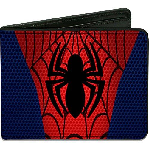Men'sUltimate Spider-man Wallet Spider-man Chest Spider Blues/r, -Multi, One Size