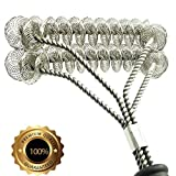 Gven Grill Brush Bristle Free- BBQ Grill Cleaning Brush And Scraper- Safe 18'' Weber Grill Cleaning Kit for Stainless Steel, Ceramic, Iron, Gas & Porcelain Barbecue Grates