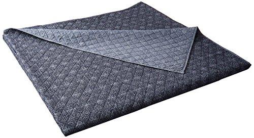 Luxury Bedding Company LBQS0789-AN Sarita Garden Lux-Bed 1 Piece Quilt Set, Full/Queen, Blue - Lux Quilt