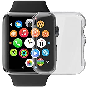 GBSELL Ultra-Slim Cystal Clear PC Hard Protective Case Cover For Apple Watch Series 1 42mm
