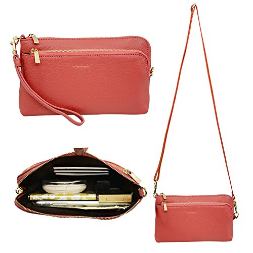 Befen Leather Wristlet Crossbody Shoulder