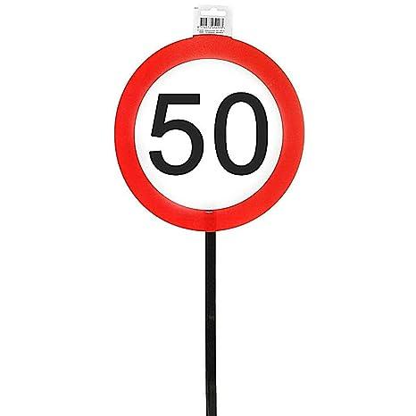 Herz /& Heim/® Riesiges PVC Verkehrsschild zum 46 Geburtstag 50cm x 50cm