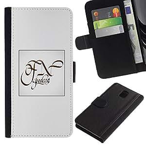 All Phone Most Case / Oferta Especial Cáscara Funda de cuero Monedero Cubierta de proteccion Caso / Wallet Case for Samsung Galaxy Note 3 III // blanco para usted