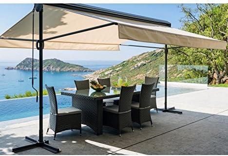 Toldo Riviera con doble pendiente, 3 x 4 m, color gris: Amazon.es: Jardín