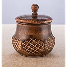 Rusticity Wood Candy or Cookie Jar with Lid | Handmade | (5.25x5.25 in)