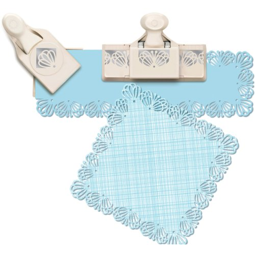 Martha Stewart Crafts Around The Page Paper Punch, Large, Butterfly Lace (Butterfly Corner Border)