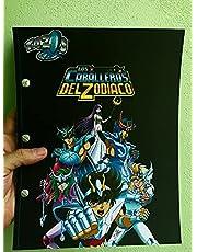 Album coleccionador + micas Tazos Caballeros del zodiaco Sabritas Mexico