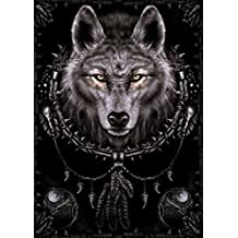 """HommomH 40"""" x 50"""" Blanket Comfort Warmth Soft Tapestry Wall Decor Wolf Dreams Catcher Dreamcatcher"""