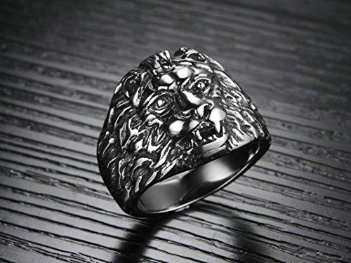 4506ee18f649 ... Edelstahl Ringe Löwenkopf für Schmuck Hochzeit Aooaz 5MM Schwarz Breite  Herren Ringe wnxTtYRq ...