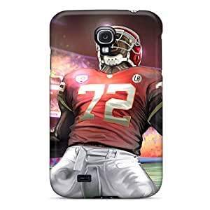 Rugged Skin Case Cover For Galaxy S4- Eco-friendly Packaging(stadium Glenn Dorsey Kansas City Chiefs)
