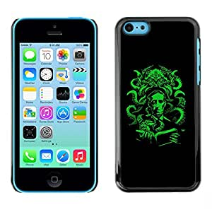LECELL--Funda protectora / Cubierta / Piel For iPhone 5C -- Pulpo verde --