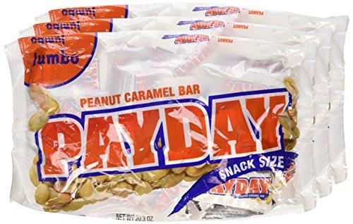 PayDay Peanut Caramel Snack-Size Bars, Jumbo Bag, 20.3-Ounce Bag ...