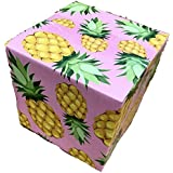 """25 6x6x6 Pineapple Designer Boxes corrugated Cardboard Box Shipping Cartons Mailers Pineapples Custom Printed Containers6"""" x 6"""" x 6"""" #SmileMail Brand"""