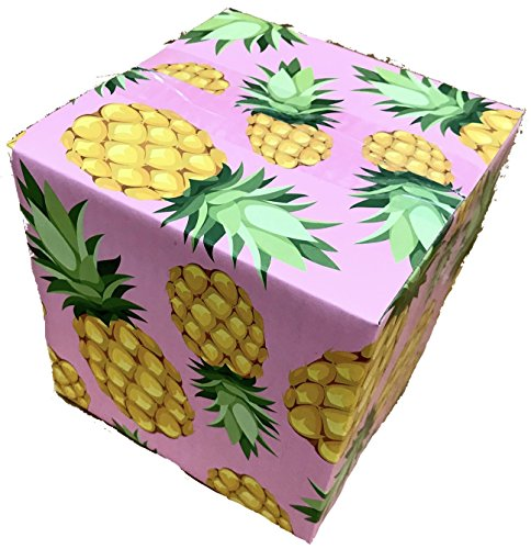 Custom Corrugated Boxes (25 6x6x6 Pineapple Designer Boxes corrugated Cardboard Box Shipping Cartons Mailers Pineapples Custom Printed Containers6