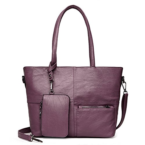 Capacité Purple Sac Diagonal Bandoulière Simple Sac Meaeo Main À À À Double Rouge Sac Sac Usage Grande nqwqRTax8O