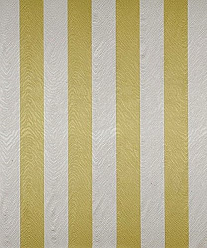 Swatch Sample Fabric Robert Allen Beacon Hill Anabel Citrine Silk Stripe Drapery HH15