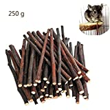baby pig food - 250g Organic Apple Sticks Wood Tree Branches Pet Snacks Chew Toys Branch for Guinea Pigs Chinchilla Squirrel Rabbits Hamster Small Animals