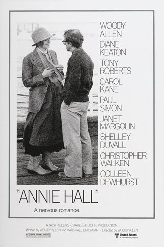 ANNIE HALL movie poster diane KEATON woody ALLEN funny QUIRKY ironic 24X36 by HSE