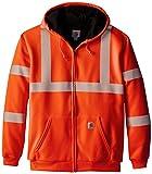 Carhartt Men's Big & Tall High Visibility Class 3 Thermal Sweatshirt,Brite Orange,XX-Large Tall