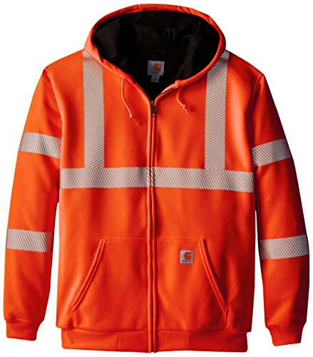 Cabelas Jacket Hooded (Carhartt Men's Big & Tall High Visibility Class 3 Thermal Sweatshirt,Brite Orange,X-Large Tall)