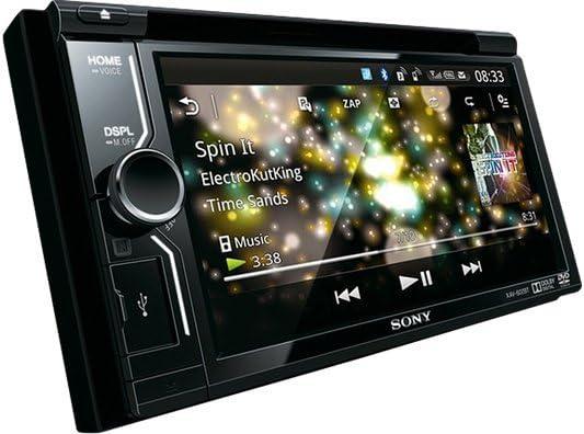Sony XAV-602BT - Reproductor de DVD/CD para coche (Compatible con MirrorLink, Bluetooth, sonido Surround virtual de 5.1 canales, pantalla táctil WVGA de alta ...