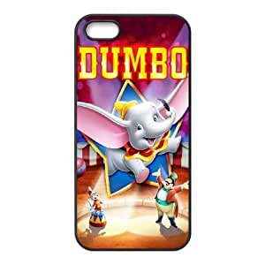 Special Design Case iPhone 5, 5S Black Cell Phone Case Vdqrd Dumbo Durable Rubber Cover