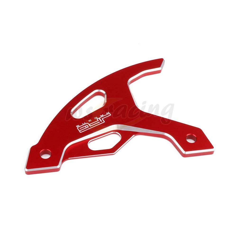 YSMOTO Motorcycle Aluminum Rear Disc Brake Guard For Honda XR650L 1993-2017 XR400R 1996-2004 XR250R 1989-2004 XR600R 1991-2000 Dirt Bike Red