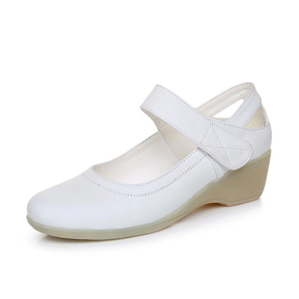Damen Lederschuhe/Wedges Schuhe/Komfortable Fahrt zur Schuhe Arbeit Schuhe zur A e96a0c