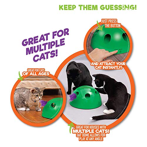 GETIEN Cat Toys Replacement Packs Including One Mouse One Fish and One Feather for Interactive Motion Cat Toys 5