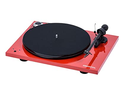 Pro-Ject Essential III Turntable with Built in Phono Preamplifier - Red