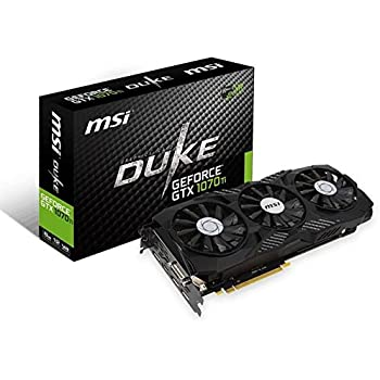 MSI Gaming GeForce GTX 1070 Ti 256-Bit 8GB GDDR5 VR Ready DirectX12 SLI Support Graphics Card (GTX 1070 TI DUKE 8G)