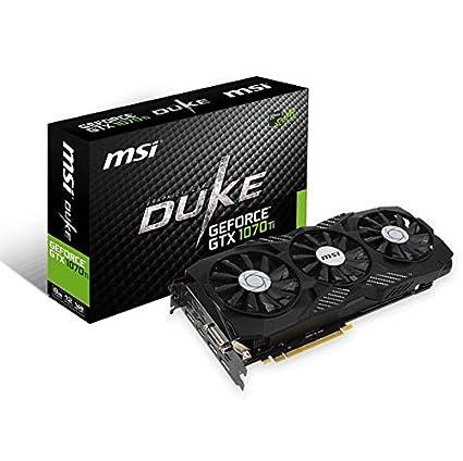 MSI Gaming GeForce GTX 1070 Ti 8GB GDRR5 256-bit HDCP Support DirectX 12  SLI TriFrozr Fan VR Ready Graphics Card (GTX 1070 TI Duke 8G)