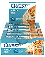 Quest Nutrition Vanilla Caramel Hero Protein bar, Low Carb, Gluten Free, 10Count