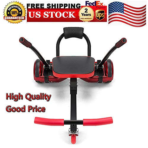 Go Kart Stands, Adjustable Kart Racer Metal Balance Car Children's Sports Car ABS Red Kart Seat Holder for Balancing Scooter Self Balancing Board 80x43.5x44cm 200lbs Load 2 Steering Handles, USA ()