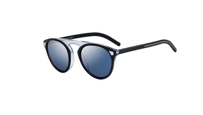 Amazon.com: Auténticas gafas de sol de Havana azul con texto ...