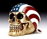 American Flag Skull Bandana Figurine Polyresin Home Decor Bikers Halloween Figurine