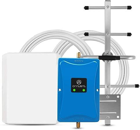 ANNTLENT Amplificador Señal Móvil Repetidor gsm 900MHz LTE 800MHz 4G para Obtenga Llamadas Señal 2G y 4G en Su Casa/Oficina