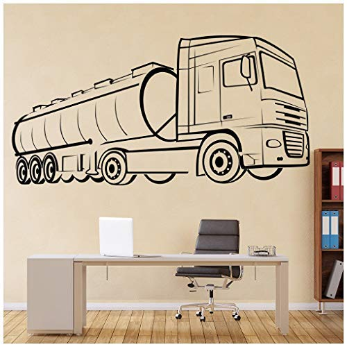 (Celeste decal banytree Oil Tanker Wagon Industrial Machines Wall Stickers Construction Decor Art Decals Large)