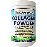 BioOptimal Collagen Powder, Collagen Peptides Grass Fed, 300 Grams, Non-GMO Premium Quality Protein Superfood, No Additives, Pasture Raised