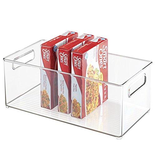 Door Single Deep Wine Cabinet (mDesign Kitchen, Pantry, Refrigerator, Freezer Storage Organizer Bin - Deep, Clear)